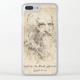 Da Vinci Quote Clear iPhone Case