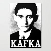 kafka Canvas Prints featuring KAFKA by Lestaret