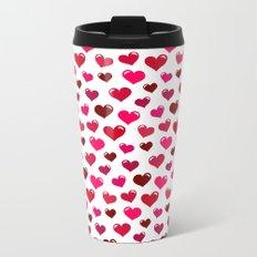 Floating Hearts Metal Travel Mug