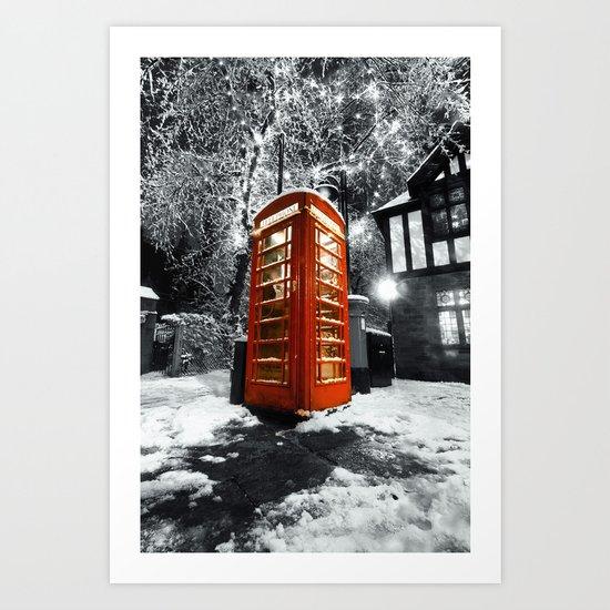Phonebox Art Print