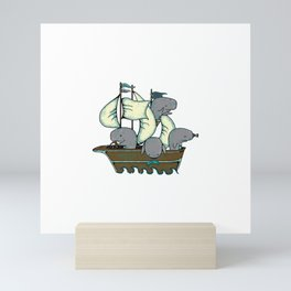 Sperm Whales Make Great Seamen Mini Art Print