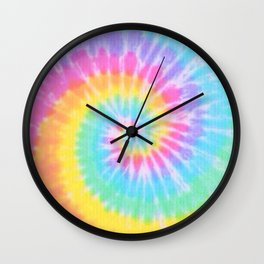 Rainbow Tie Dye Wall Clock