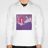 little mermaid Hoodies featuring Little mermaid by Jaimie Hutton