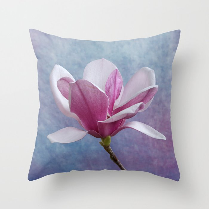 Studio Dalio - Pink Magnolia Flower Throw Pillow