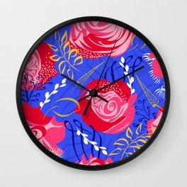 Marsala #illustration #pattern Wall Clock