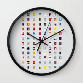 Minimalism robots (Good natured / Defenders) Wall Clock