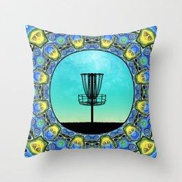 Disc Golf Abstract Basket 5 Throw Pillow