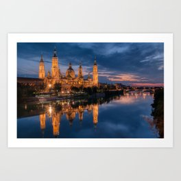 Zaragoza, Aragon, Spain. Art Print