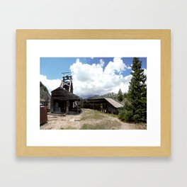 Exploring the Longfellow Mine of the Gold Rush - A Series, No. 1of 9 Framed Art Print