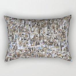Texture of paper shredded wall Rectangular Pillow