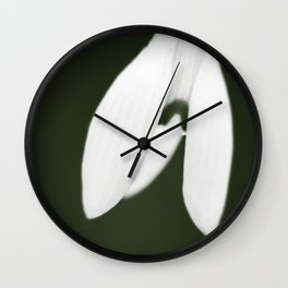Snowdrop  Wall Clock