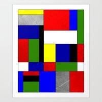mondrian Art Prints featuring Mondrian #4 by Ron Trickett