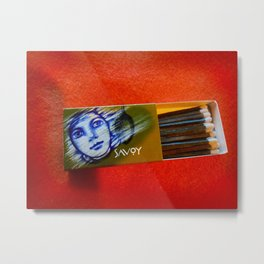 Face sketch on Matchbox Metal Print