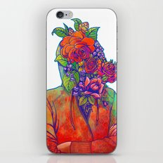 FLOWERS HEAD iPhone & iPod Skin
