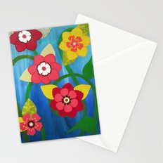 Dancing Flowers Stationery Cards