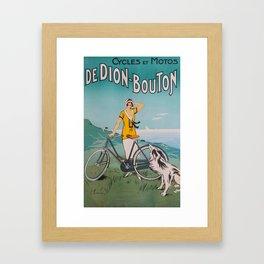 De Dion-Bouton, advertisement vintage poster Framed Art Print