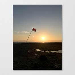 Sunset Flag at Gili Trawangan Island | Travel photography Indonesia | Adventure in Asia Canvas Print