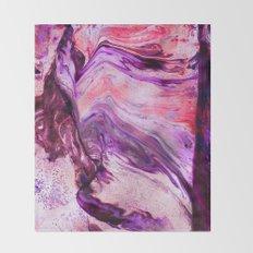 Marbled Garnet Throw Blanket