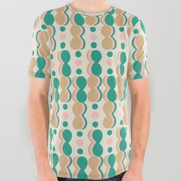 Uende Cactus - Geometric and bold retro shapes All Over Graphic Tee