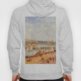 The Port Of Dieppe The Dunquesne And Berrigny Basins High Tide Sunny Afternoon 1902 By Camille Pissa Hoody