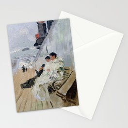 Frits Thaulow Monks on the Deck Stationery Cards