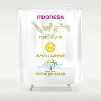 indonesia Shower Curtains featuring Indonesia by Franciska Windy