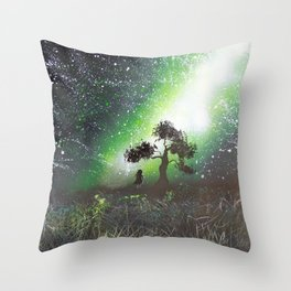 You're Never Alone With All These Stars Throw Pillow