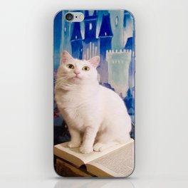 The tale of Tyche the white kitty iPhone Skin