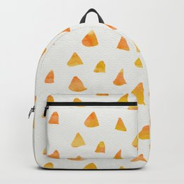 Geometrical orange yellow watercolor hand painted triangles Backpack