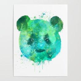 Watercolor Panda Painting Poster