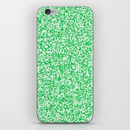 Tiny Spots - White and Dark Pastel Green iPhone Skin