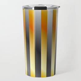 Illustration of a meta steel and gold Travel Mug