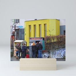 Old photo booth _755 (photo machines) Mini Art Print