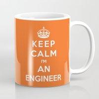 engineer Mugs featuring Keep Calm I'm An Engineer by Funky House