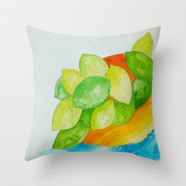 Lime Bowl Throw Pillow