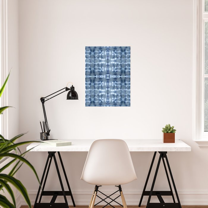 Tie Dye Layered Grid Poster