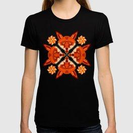 Fox Cross geometric pattern T-shirt
