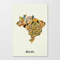 brazil Canvas Prints featuring Brazil by In Full Color