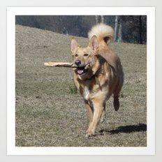 Running Dog Art Print