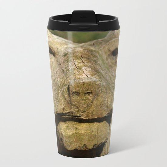 BEAR FACED CHEEK Metal Travel Mug