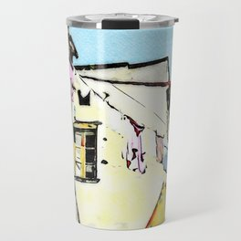 Tortora glimpse with window and hanging clothes Travel Mug