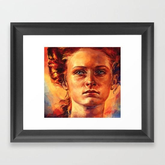Maybe he'll give me yours. Framed Art Print