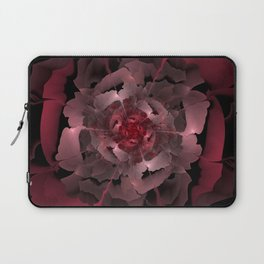 Abloom in Lusciously Crimson-Red Petals of a Rose Laptop Sleeve