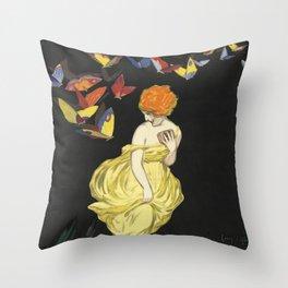 Butterflies Fantasy Throw Pillow