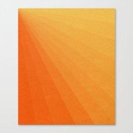 Shades of Sun - Line Gradient Pattern between Light Orange and Pale Orange Leinwanddruck