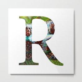 "Initital letter ""R"" Metal Print"