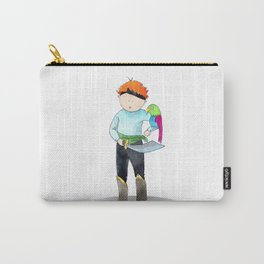 Red haired pirate | watercolor portrait Carry-All Pouch