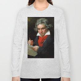 Ludwig van Beethoven (1770-1827) by Joseph Karl Stieler, 1820 Long Sleeve T-shirt
