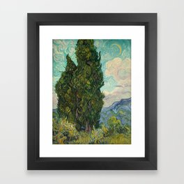 Cypresses - Van Gogh Framed Art Print