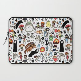 Kawaii Ghibli Doodle Laptop Sleeve